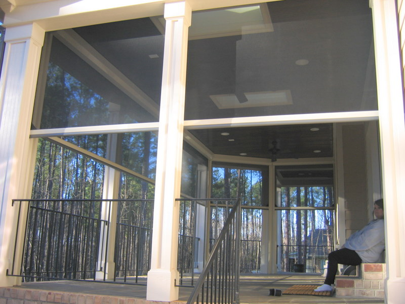 Image gallery executive motorized retractable screens for Motorized retractable screens for porches