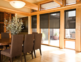 Insolroll Solar Screen Shades Block The Sun, Not The View! Solar Screen  Fabrics Are Designed To Control Light Without Eliminating It.