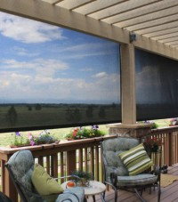 Oasis Patio Shades enhance the view